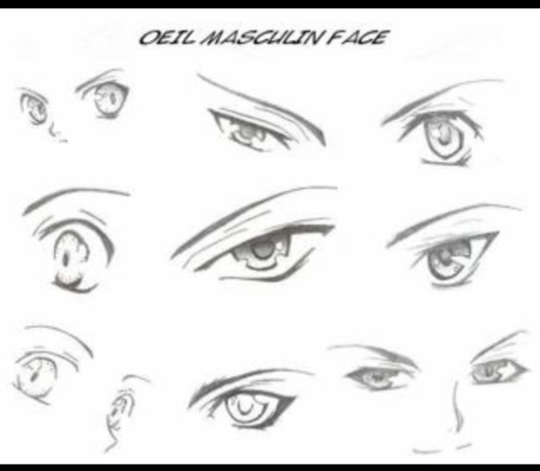 Les Yeux Manga Garcons Passion For Drawing