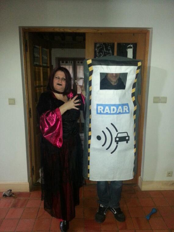 Petit deguisement de mon fils Djordan Moine  mon compagnon Sébastien radar et moi