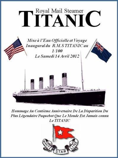 Exclusivité Voyage Inaugural du TITANIC