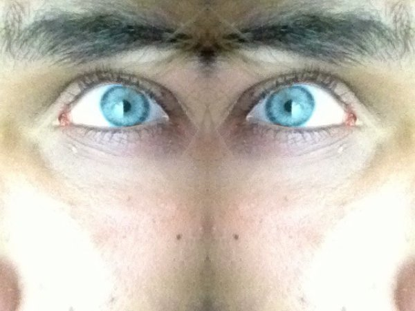 Les yeux.