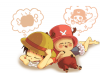 luffy et chopper -chibi-