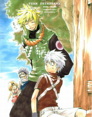 Yondaime's Team Rin.Obito.Yondaime.Kakashi