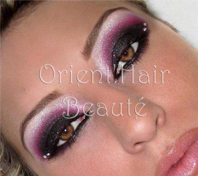 maquillage libanais rose et noir