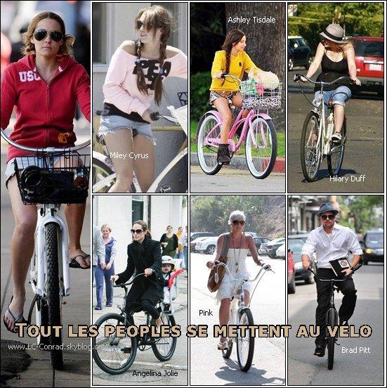 . Lauren a été aperçus dans les rues de Los Angeles en vélo -elle n'échappe pas à la mode- ce 13 Novembre.