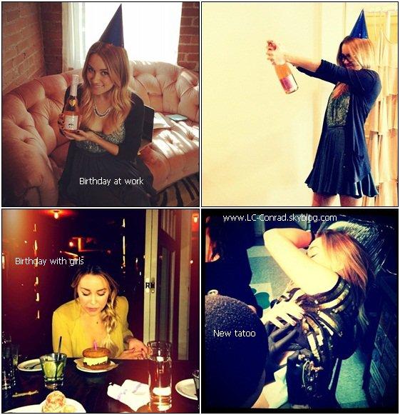 Lauren fête son anniversaire 2 fois + NOUVEAU TATOUAGE + Aéroport LAX and NewYork