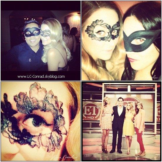 Lauren au match des Lakers + à une fête masqué !