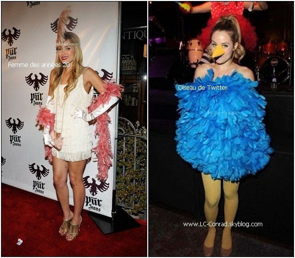 Lauren et William pour Halloween Party chez Matthew Morrison + Tout les costumes de Lauren