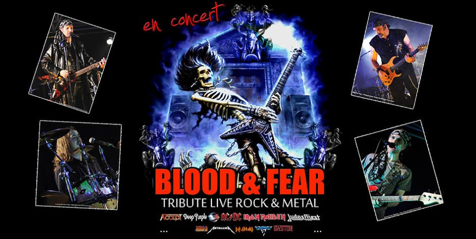 BLOOD & FEAR  //  ROCK TRIBUTE  GROUPE MUSICIENS