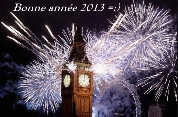 Bonne année 2013 à tous =:)
