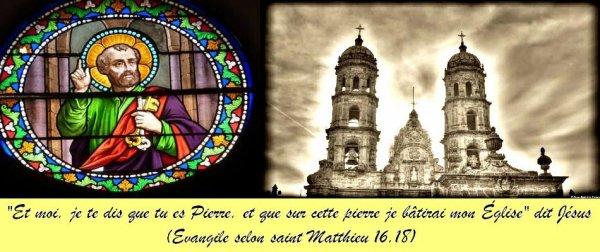 Jésus qui a battit son Eglise sur Pierre