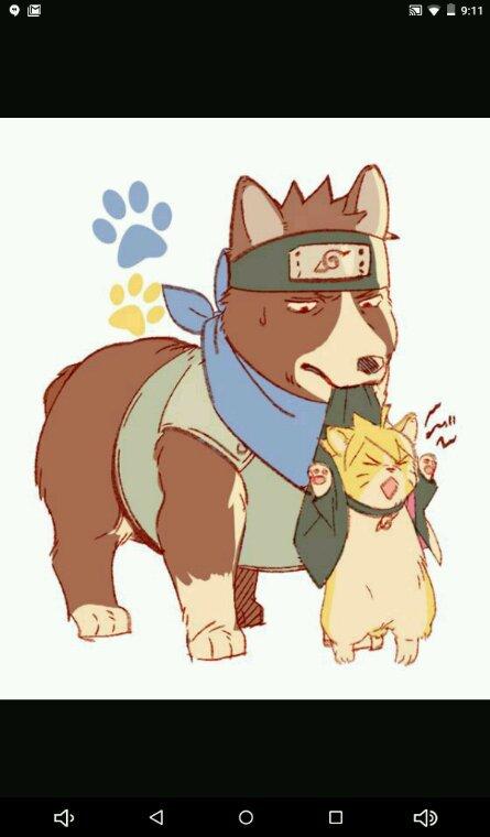 Boruto et konohamaru en version chien =3