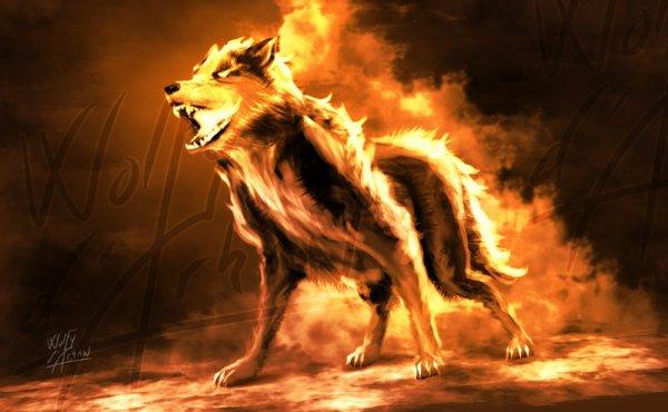 la légende du loup de feu