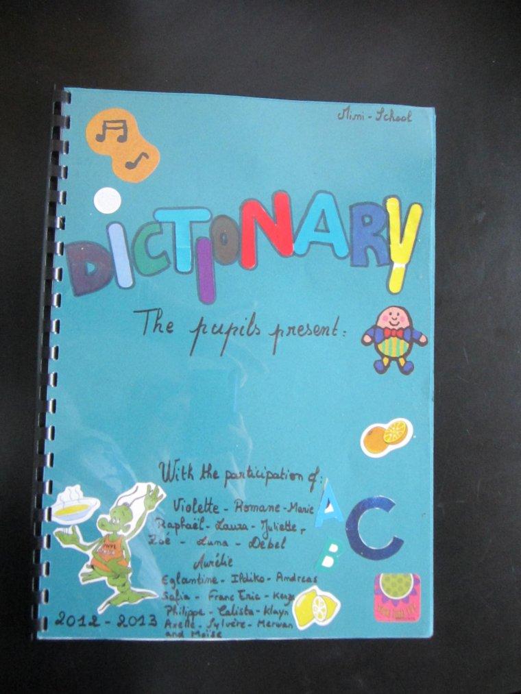 Le dictionnaire: Projet anglais  2012-2013 4/6 et 6/9