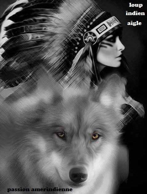 loup et indien