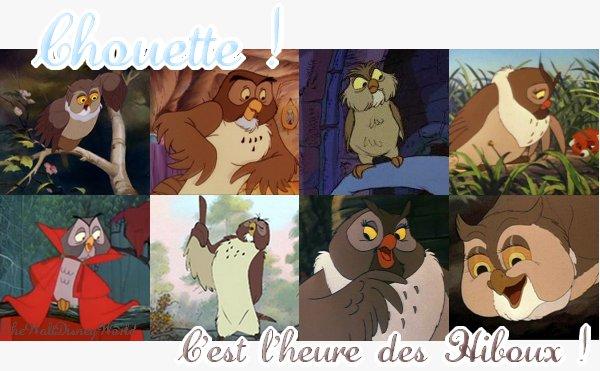 Fiche Thème : Les Hiboux & Chouettes Disney.