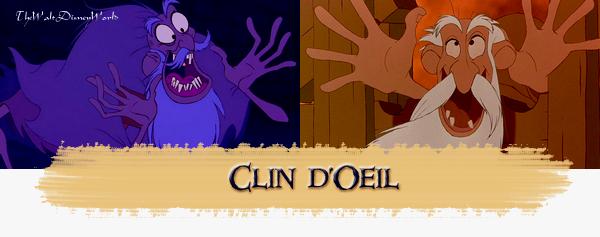 Clin d'oeil : Aladdin & Le Bossu de Notre Dame