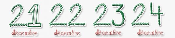 Calendrier de l'Avent : Noël 2011.