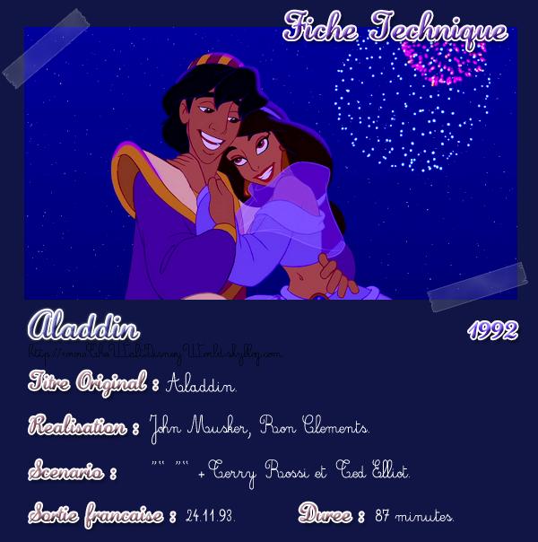 Fiche Technique : Aladdin (1992).
