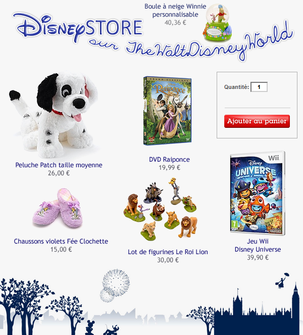 Fiche Découverte : Disney Store.