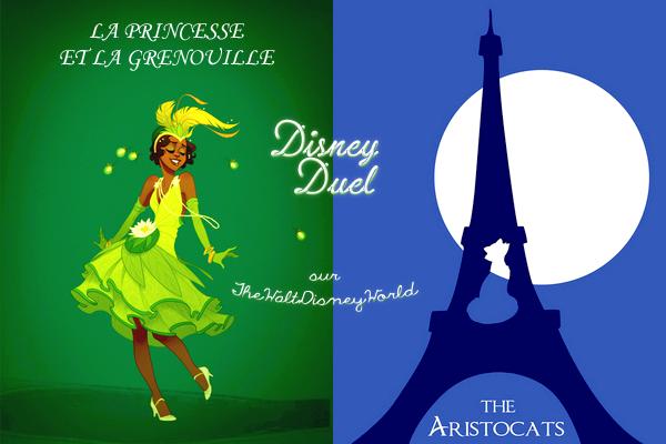Disney Duel : Tiana ; La princesse et la grenouille / Duchesse ; Les Aristochats.