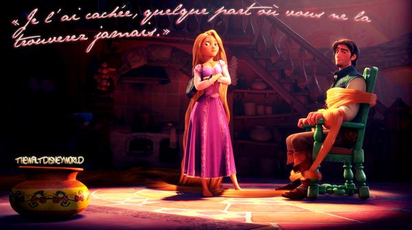 Scène coup de ♥ : La cachette de la couronne (Raiponce).