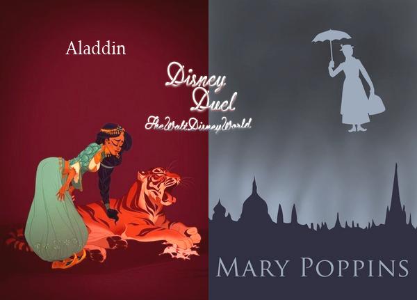 Disney Duel : Jasmine (Aladdin) / Mary (Mary Poppins).