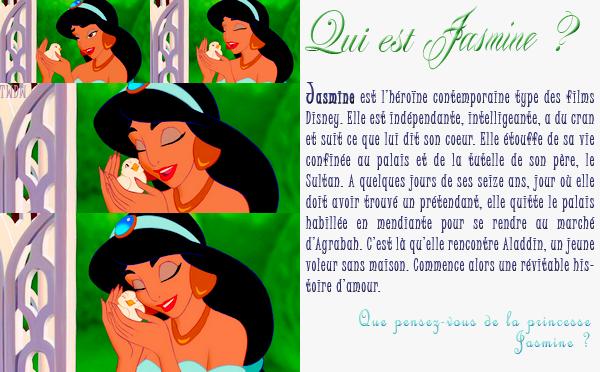 Fiche Personnage : Jasmine.