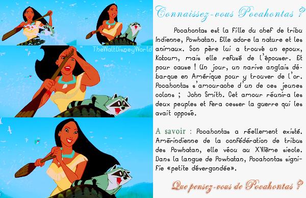 Fiche Personnage : Pocahontas.