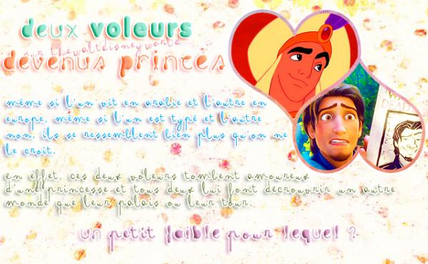 Clin d'oeil : Aladdin & Flynn.