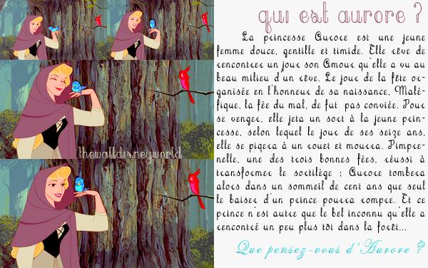 Fiche Personnage : Aurore (La Belle au bois dormant).