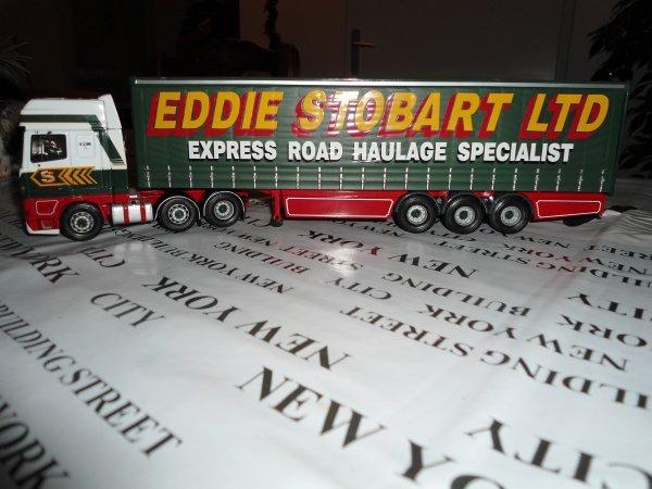mon daf 95 xf de chez corgi edition limite eddie stobart ltd