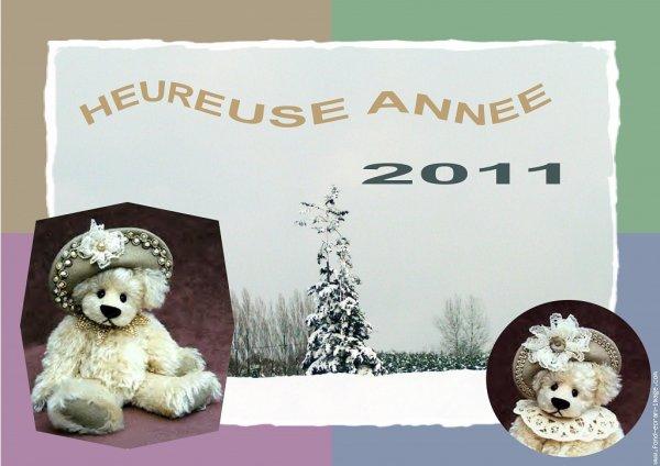 bonne fete de fin d année et mes meilleures voeux 2011