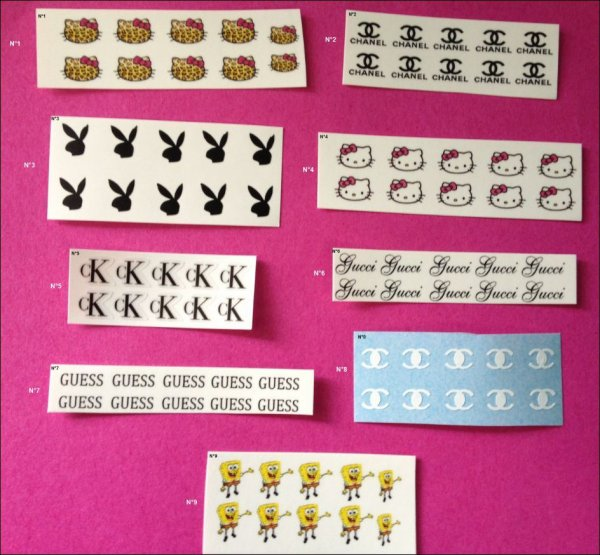 STICKERS ET WATER DECALS POUR ONGLES
