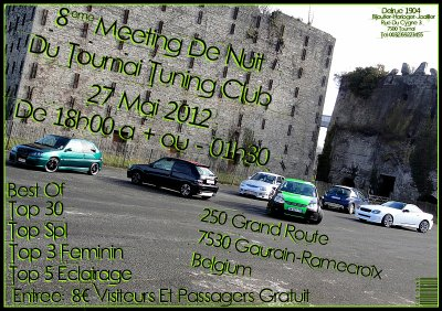 8eme  meeting de nuit du tournai tuning club