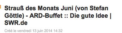 Strauß des Monats Juni (von Stefan Göttle) - ARD-Buffet :: Die gute Idee | SWR.de