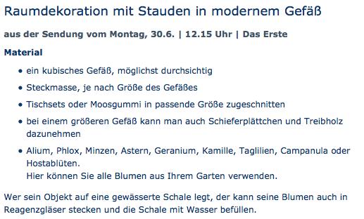 Raumdekoration mit Stauden in modernem Gefäß - ARD-Buffet :: Die gute Idee   SWR.de