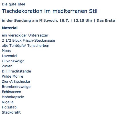 Tischdekoration in kühlem und elegantem Stil - ARD-Buffet :: Die gute Idee | SWR.de