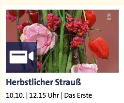 Herbstlicher Strauß - ARD-Buffet :: Kreativ