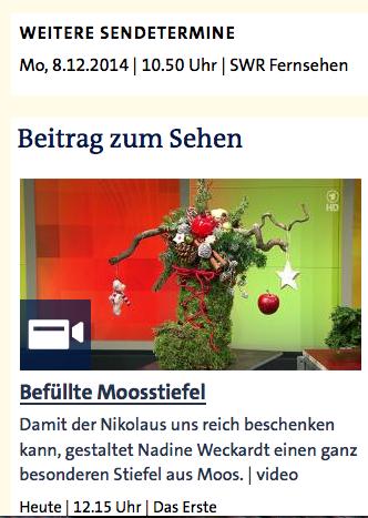 Befüllte Moosstiefel - ARD-Buffet :: Kreativ