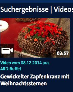 Gewickelter Zapfenkranz mit Weihnachtssternen | DasErste.de