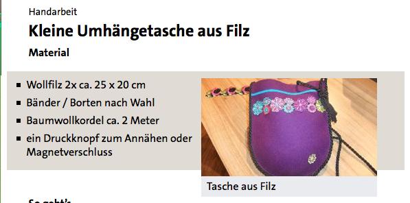 Tasche aus Filz - ARD-Buffet :: Kreativ