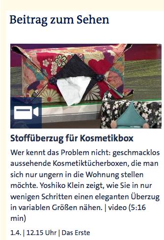 Stoffüberzug für Kosmetikbox (Yoshiko Klein) - ARD-Buffet :: Kreativ