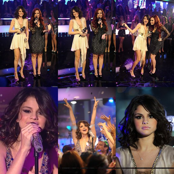 Le 1 er Janvier 2012  Selena & Demi était au MTV new year's Eve