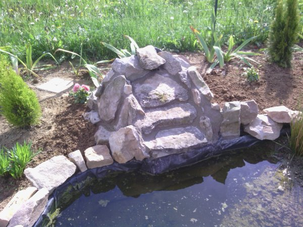 Construction d 39 une cascade bassin de jardin 62 for Construction bassin de jardin