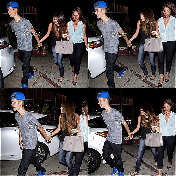- 05/07/12 :Justin a était aperçus aHollywoodqu'il a été vu en compagnie de sa girl friendSelena. ! -