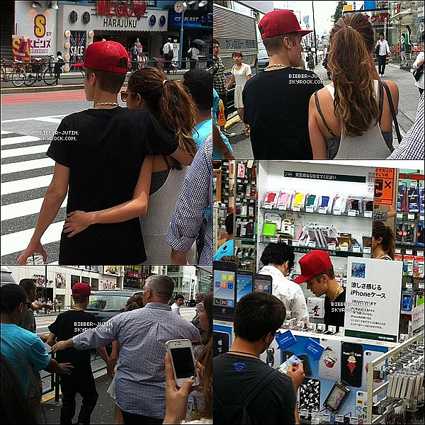 - 10/07/12 |Justin etSelena Gomezà été aperçu main dans la main dans les rues de Tokyoau Japon. ! -