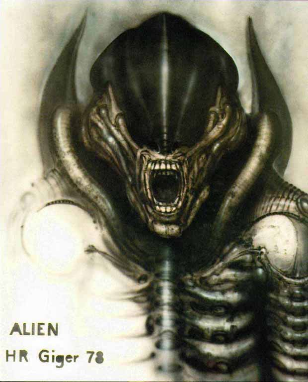 Alien dessiné en 1978