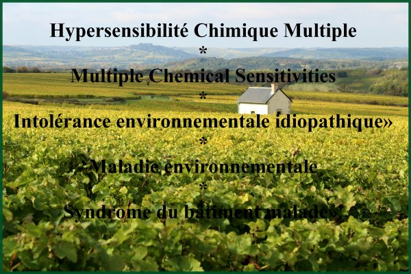 Demande de reconnaissance par la France de l'Hypersensibilité Chimique Multiple Question Assembléee Nationale d' Avril 2018