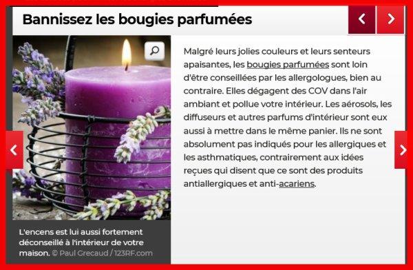 H.C.M. / M.C.S. et bougies parfumées (Hypersensibilité chimique Multiple)