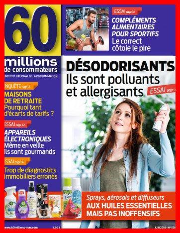 """Désodorisants polluants et allergisants """" Huiles essentielles """" Juin 2018"""